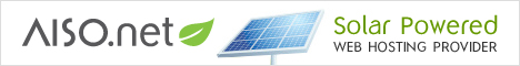 Microsoft , PHP and MySQL web hosting powered by green solar power and wind energy